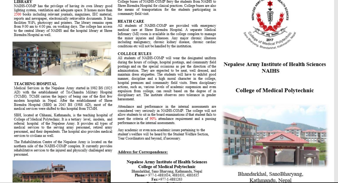 Brochure College of Medical Polytechnic